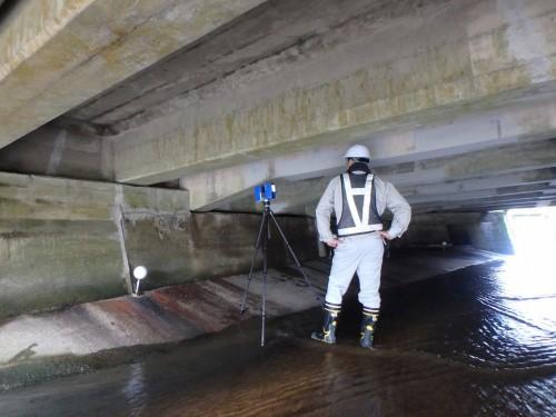 橋桁や橋台など大きな構造物はFocus3Dで計測