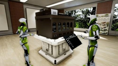 建物のBIMモデルを周囲から俯瞰することも可能だ