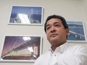未来の橋梁建設システムに思いをはせる代表取締役の保田敬一氏