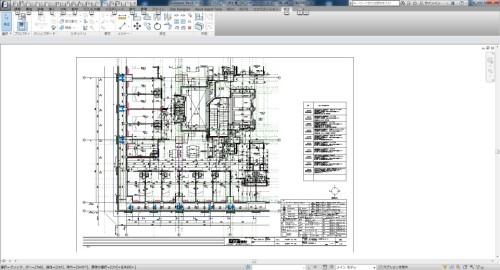 基本設計のBIMモデルを引き継いで作成された実施設計の平面詳細図