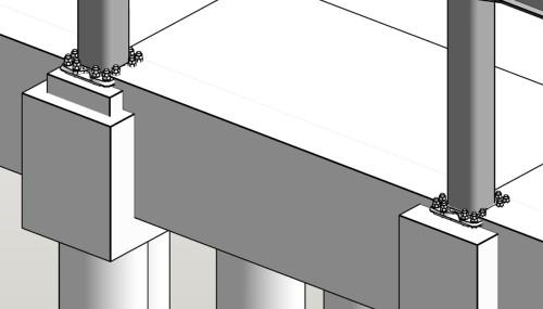 鉄骨柱脚部の詳細検討