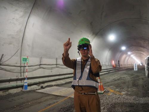 実証実験が行われた新紀見トンネルの施工現場