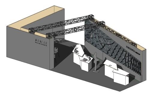 Revitに統合された展示ブースのBIMモデル