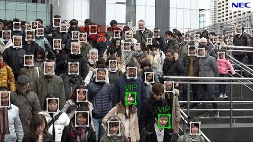 群集から複数の人をリアルタイムで判別するNECの動画顔認証技術