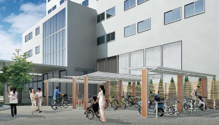 自動設計された駐輪場のBIMモデル。自転車の駐車台数もメニューで変えられる