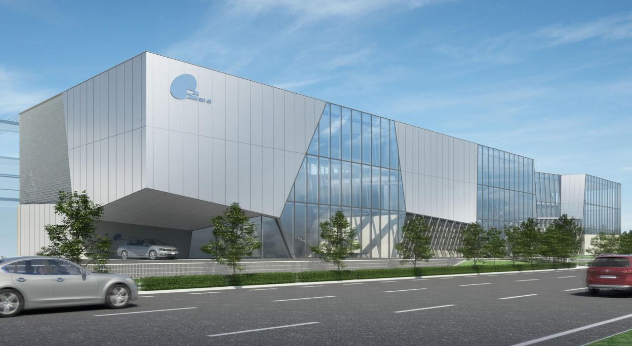 三栄建設鉄鋼事業本部新事務所の完成予想図