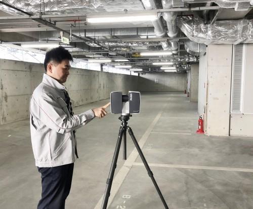 「Focus3D」による現場計測作業