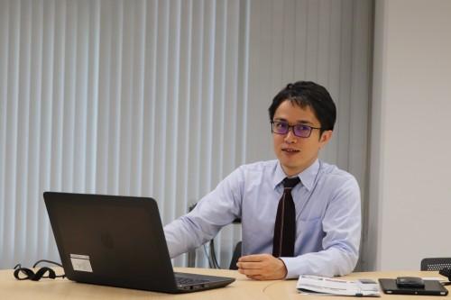 BIM測量について語る奥村組情報システム部BIM推進室の三井和章氏