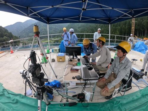 IHIインフラ建設を中心とする5社のコンソーシアムによる計測作業