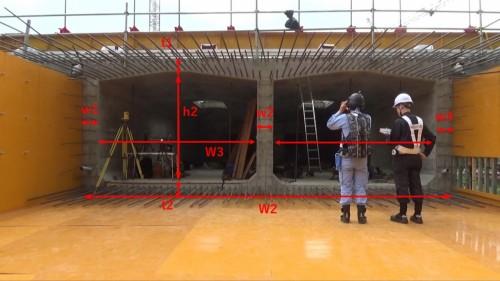 HoloLensで計測した型枠の各寸法