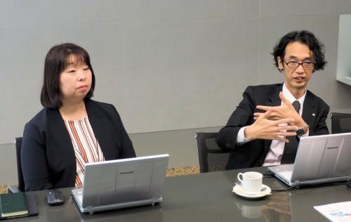 Boxの活用について語る井上氏(左)と金澤氏(右)