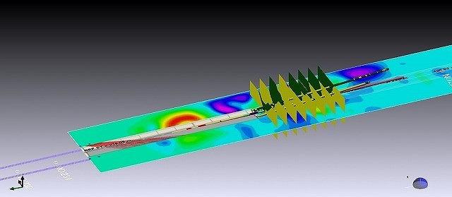 上記モデルに弾性波探査結果を統合したモデル