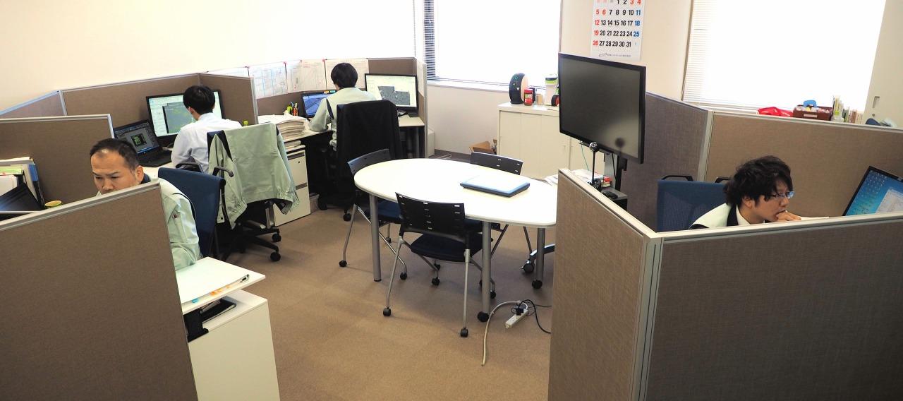 岩田地崎建設のBIM、CIM活用をサポートするICT推進部のオフィス
