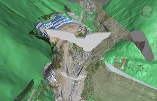 大谷川砂防ダムのCIM (NavisWorks) モデル