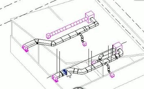 実際の製品に基づいたパーツで作成した製作図レベルのBIMモデル
