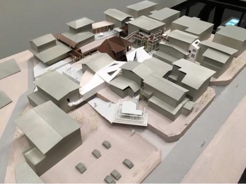 神戸・鈴蘭台の住宅地をモデルに、「足し算のシェア」を具現化した模型
