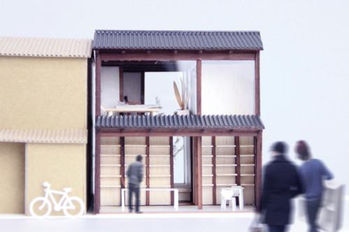古い町家を改装したコミュニティースペースのイメージ