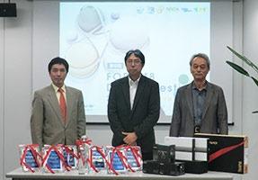3人の審査員。左から傘木宏夫氏、関文夫氏(審査委員長)、稲垣竜興氏